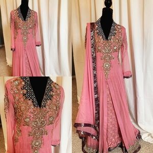 Pink/Purple Pakistani Gown